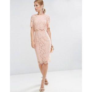 ASOS Midi Lace Overlay Dress